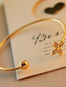 Exquisite Lucky Clover with Drill Gold-plated Bracelet Christmas Gifts