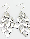 Drop Earrings Sterling Silver Statement Jewelry Peacock Screen Color Jewelry 2pcs