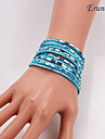 Eruner®Hot Sale Wrap Wristband Cuff Punk Rhinestone Multilayer Bracelet Bangle