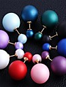 Stud Earrings Alloy Ball Green Blue Pink Light Blue Dark Purple Jewelry Party Daily Casual