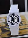 Магия цвета прозрачного пластика часы круглой высокое качество Движение японский женские часы