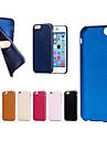용 아이폰6케이스 / 아이폰6플러스 케이스 울트라 씬 / 반투명 케이스 뒷면 커버 케이스 단색 소프트 인조 가죽 iPhone 6s Plus/6 Plus / iPhone 6s/6