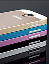 Bumper - Samsung S4 I9500 - Helfarve/Metal Finish/Special Design - Samsung Mobil - (Sort/Blå/Lyserød/Guld/Sølv , Metal)