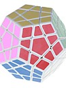 7099A 12-Color Megaminx IQ Magic Cube - White Base