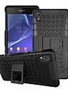 couverture de cas - Coque Arrière/Coques avec Support - Motif carreaux/Design Spécial - en Sony Z2