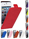Genuine Crazy Horse PU Leather Slim Light Flip Case Cover for iPhone 4/4s(Assorted Colors)