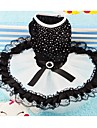 Dog Dress Black Dog Clothes Summer Crystal/Rhinestone Wedding