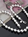 Ожерелье Ожерелья-цепочки Бижутерия Для вечеринок / Повседневные Модно Стерлинговое серебро Серебряный 1шт Подарок
