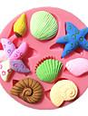 морские звезды улитка раковину помадной массы формы торта формы шоколада для кухни выпечки для леденцов