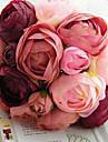 kimppu 10 silkkikangas simulointi ruusut häät kukkakimppu häät morsian holding kukkia, fushia