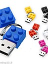 USB 2.0 nova tijolos de brinquedo dos desenhos animados de memoria de alta