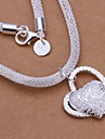 Necklace Pendant Necklaces Jewelry Wedding / Party / Daily / Casual Fashion Sterling Silver Silver 1pc Gift