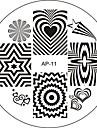 Nail Art Stamp Stamping Image Template Plate AP Series NO.11