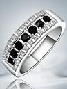 Femme Anneaux Mode Bijoux Fantaisie bijoux de fantaisie Argent sterling Zircon Imitation Diamant Bijoux Pour Soiree