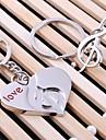szív zenei esküvői kulcstartó kulcstartó szeretője Valentin nap (egy pár)
