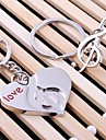 Музыка сердца свадьбы кольцо для ключей брелок для дня любовника Валентина (одна пара)