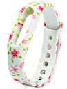 activite Tracker bande de TPU remplacable pour xiaomi bracelet de montre intelligente petit motif de fleurs