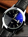 High-grade Leather Blue Ray Glass Business Quartz Watch Cool Watch Unique Watch