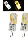 6W G4 Точечное LED освещение 64LED SMD 3014 450-600 lm Тёплый белый / Холодный белый AC 220-240 V 1 шт.