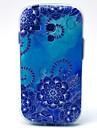 Blue Morning Glory Pattern Soft Case for Samsung Galaxy S3 Mini I8190