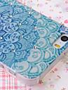 Zircon Beautiful Flowers Pattern Nice Feeling Embossment Back Case for iPhone 5/5S