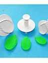 FOUR-C большой роза лист пластика помады торт поршень резак набор 3, новейшие материалы для украшения торта