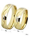 Women\'s Couple\'s Couple Rings Band Rings Love Simple Style Costume Jewelry Rhinestone Titanium Steel Circle Jewelry For Wedding Party