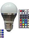 E26/E27 Круглые LED лампы A50 1 Высокомощный LED lm RGB Регулируемая На пульте управления Декоративная AC 85-265 V 1 шт.