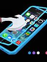 d grande toque vista TPU& tampa articulada de silicone para iphone 5c (cores sortidas)