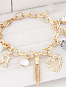 Bracelet/Charm Bracelets Alloy / Rhinestone Daily / Casual Jewelry  Gold / Silver,1pc Christmas Gifts