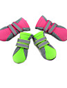 Cat Dog Shoes & Boots Waterproof Winter Spring/Fall Solid Green Pink Fabric