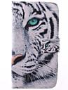 Для Кейс для  Samsung Galaxy Бумажник для карт / со стендом / Флип / С узором Кейс для Чехол Кейс для Животный принт Искусственная кожа