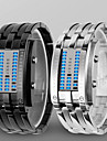 Herre Dame Unisex Armbaandsur Digital Watch LED Vannavvisende Digital Legering Band Luxury Svart Soelv