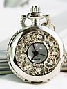 collar de cuarzo de las mujeres de la moda europea dial redondo reloj reloj de bolsillo