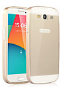 Metal Frame Acrylic Mirror Backplane Metal Hard Case for Samsung Galaxy S3 i9300 (Assorted Colors)