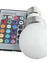 3W E14 Круглые LED лампы 3 lm RGB Регулируемая / На пульте управления / Декоративная AC 100-240 V 3 шт.