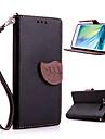 Pour Samsung Galaxy Coque Porte Carte Avec Support Clapet Magnetique Coque Coque Integrale Coque Couleur Pleine Cuir PU pour Samsung A3