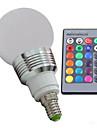 3W E14 Круглые LED лампы 3 lm RGB Регулируемая / На пульте управления / Декоративная AC 100-240 V 1 шт.