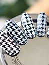 Black White Houndstooth Nail Art Stickers