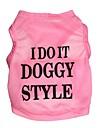Gatos / Perros Camiseta Rosado Verano Letra y Numero Cosplay
