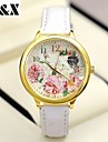 Women's Fashion Diamond Flowers Quartz Analog Leather Print Wrist Watch(Assorted Colors) Cool Watches Unique Watches