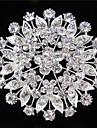 vintage kvinner klar krystall blad bryllup brosje