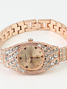 Women's Diamond Decor Dial Rose Gold Band Quartz Bracelet Watch Cool Watches Unique Watches