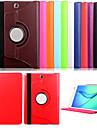 용 삼성 갤럭시 케이스 스탠드 / 플립 케이스 풀 바디 케이스 단색 인조 가죽 Samsung Tab A 9.7
