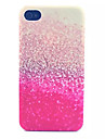 Glitter Pattern Transparent Frosted PC Back Cover For  iPhone 4/4S