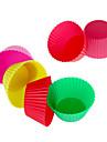 12pcs silicone reutilisable moule a cake cuisson tasses (couleur aleatoire)