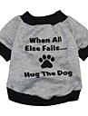 Cat Dog Sweatshirt Black Gray Dog Clothes Winter Spring/Fall Letter & Number Cute Fashion