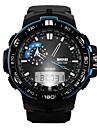 Hombre Reloj de Pulsera Digital LCD / Calendario / Cronografo / Resistente al Agua / Dos Husos Horarios / alarma / Reloj Deportivo Caucho