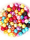 beadia 64g (приблизительно 300pcs) абс жемчуг 8мм круглый смешанный цвет пластиковых свободные шарики DIY аксессуары
