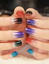 Color Gradient Nail Art Glitter Sticker